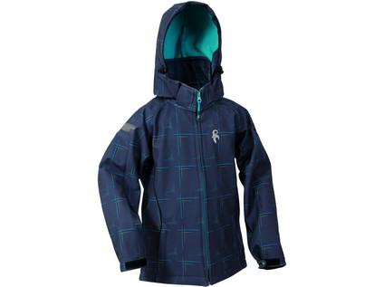 Dětská softshell bunda RAY, šedo-modrá - 10751_1230 022 706 00 RAY
