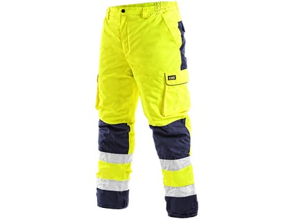 Pánské reflexní kalhoty CARDIFF, zimní, žluté, vel. M