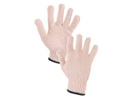 Textilní rukavice FLASH. bílé. vel. 08