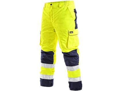 Pánské reflexní kalhoty CARDIFF, zimní, žluté, vel. XL