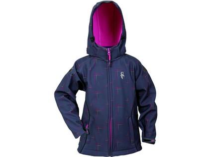 Dětská softshell bunda RAY, šedo-růžová, vel. 11 - 12178_1230 022 704 00 RAY