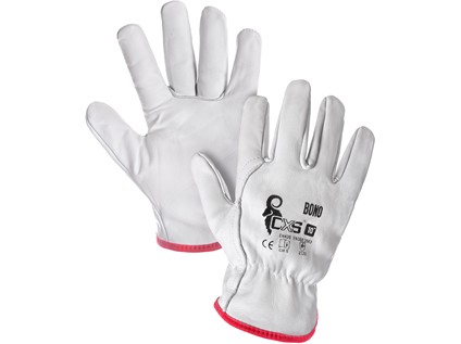 Kožené rukavice BONO, vel. 10