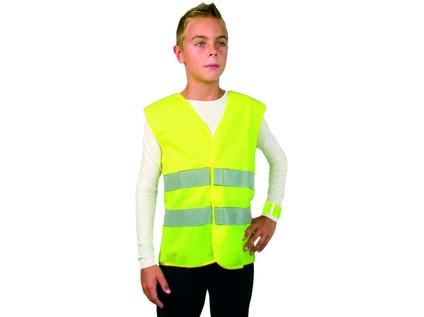 Dětská reflexní vesta TEDDY, žlutá - 12954_2614-ZLVVA