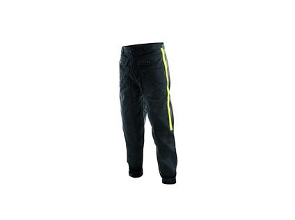 Pánské fárací kalhoty TECHNIK, se žlutými pruhy, černé