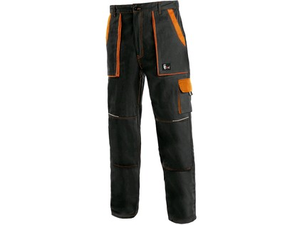 Pánské kalhoty CXS LUXY JOSEF, černo-oranžové - 15299_1020 006 803 00 JOSEF