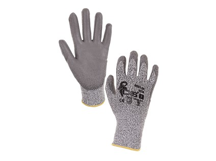 Protipořezové rukavice CITA, šedé, vel. 08