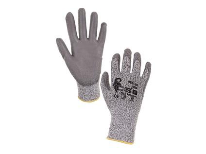 Protipořezové rukavice CITA, šedé, vel. 10