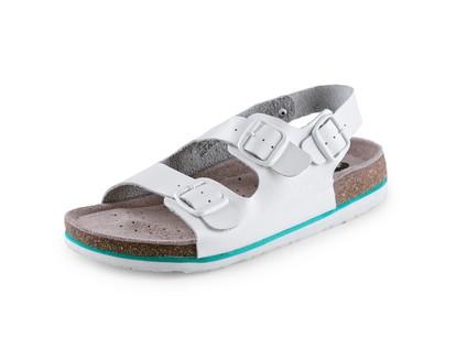 Obuv sandál CXS CORK MEGI, dámský, s páskem, bílý, vel. 38