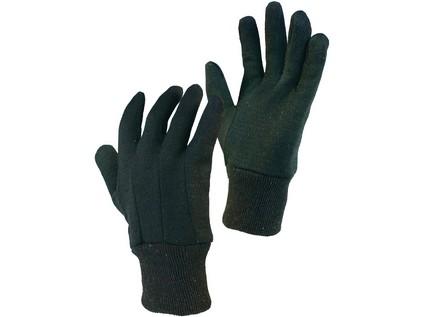 Textilní rukavice NOE. hnědé. vel. 10