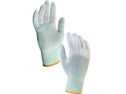 Textilní rukavice KASA. bílé. vel. 10