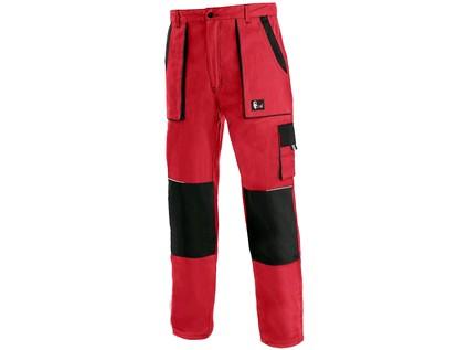 Pánské prodloužené kalhoty CXS LUXY JOSEF, červeno-černé - 17444_1020 007 260 00 JOSEF
