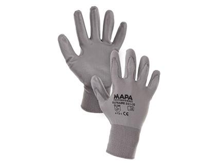 Povrstvené rukavice MAPA ULTRANE, šedé, vel. 08
