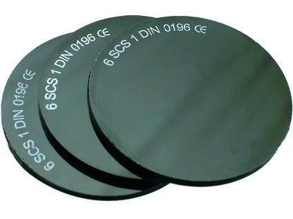 Sklo do svářečských brýlí, tmavé, průměr 50 mm