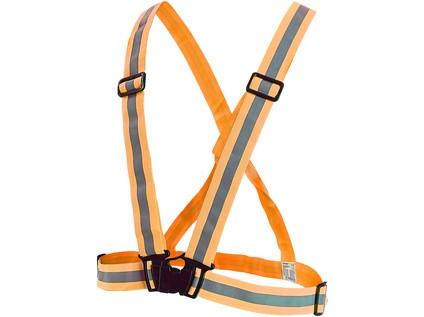 Reflexní elastický KŘÍŽ CROSS. oranžový