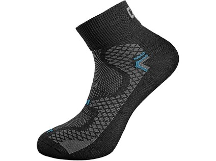 Ponožky CXS SOFT, černo-červené, vel. 39