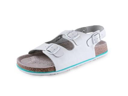 Obuv sandál CXS CORK MEGI, pánský, s páskem, bílý, vel. 45