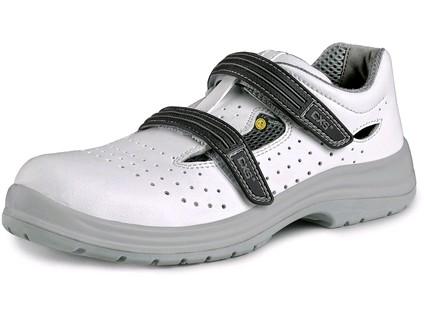 Obuv sandál CXS PINE S1 ESD. s ocelovou špicí. perforovaný. bílá. vel. 39