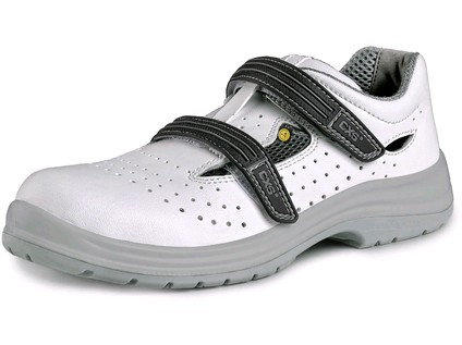 Obuv sandál CXS PINE S1 ESD. s ocelovou špicí. perforovaný. bílá. vel. 45