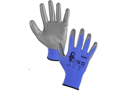 Povrstvené rukavice CERRO, modro-šedé - 43527_3410 086 410 00 CERRO