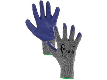 Povrstvené rukavice COLCA, šedo - modrá, vel. 8 - 43536_3420 026 706 00 COLCA_NEW