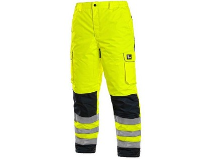Kalhoty CARDIFF, výstražné, zateplené, pánské, žluté, vel. S - 46949_1