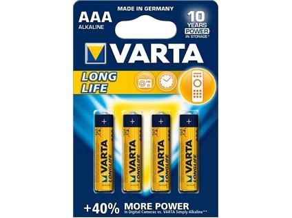 Baterie VARTA Longlife mikrotužková AAA 4ks - 47606_6121 025 000 01 BATERIE VARTA LONGLIFE AAA
