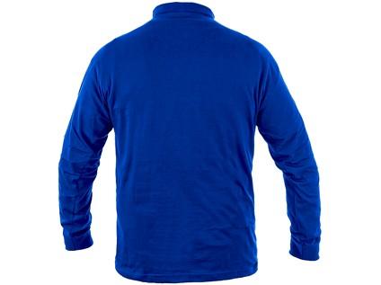 Tričko  PETR, dlouhý rukáv, středně modré, vel. S - 48362_1620 001 413 00 PETR_ZEZADU