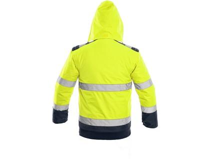 Bunda LUTON, výstražná, žluto-modrá