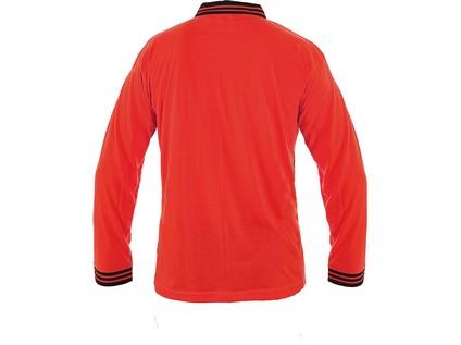 Polokošile LANDON, dlouhý rukáv, červeno-šedá, vel. XL