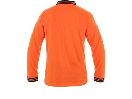 Polokošile LANDON, dlouhý rukáv, oranžovo-černá, vel. M