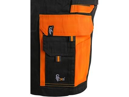 Kraťasy CXS SIRIUS BRIGHTON, pánské, černo-oranžové