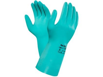 Kyselinovzdorné rukavice ANSELL SOL-VEX 37-676, vel. 09