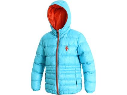 Dětská zimní bunda MEMPHIS, modro-oranžová - 5669_1491-JMO