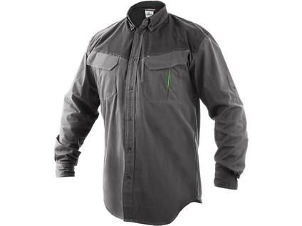 Pánská košile SIRIUS ATANAS, šedo-zelená - 7693_1181-VV