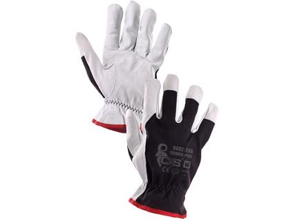 Kombinované rukavice TECHNIK PLUS, černo-bílé, vel. 07