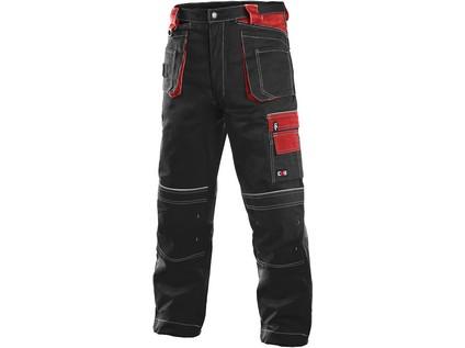 Pánské kalhoty ORION TEODOR, černo-červené, vel. 56 - 8902_1020 003 805 00 TEODOR NOVE
