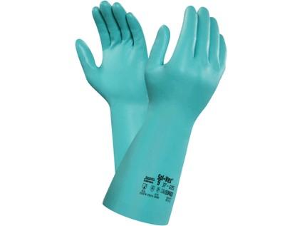 Chemické rukavice ANSELL SOL-VEX 37-695, máčené v nitrilu, vel. 10