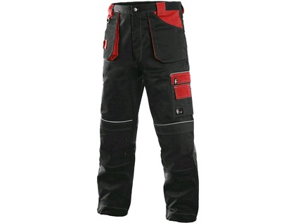 Pánské kalhoty ORION TEODOR, černo-červené, vel. 60 - 8956_1020 003 805 00 TEODOR