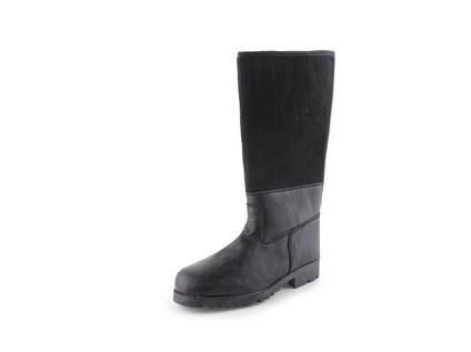 Koženofilcová holeňová obuv TIMUR, vel. 46