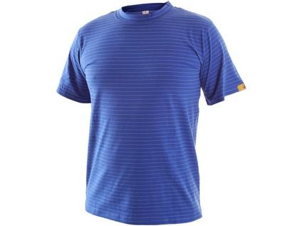 Antistatické tričko ESD, středně modré, vel. S