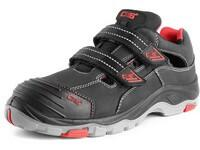 Sandal leather CXS ROCK SYENIT S1, with steel toe cap, black