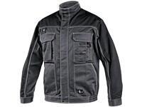 Men´s padded jacket ORION OTAKAR, prolonged version for height  194cm, men´s, grey-black