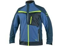 Jacket CXS NAOS, men's, blue-blue, HV yellow accessories