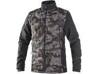 Jacket CXS CAMO, men's, camouflage black